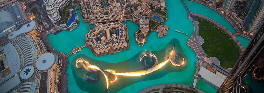 Lights of Dubai mall fountain, Dubai