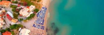 Alykes beach on Zakynthos island, Greece