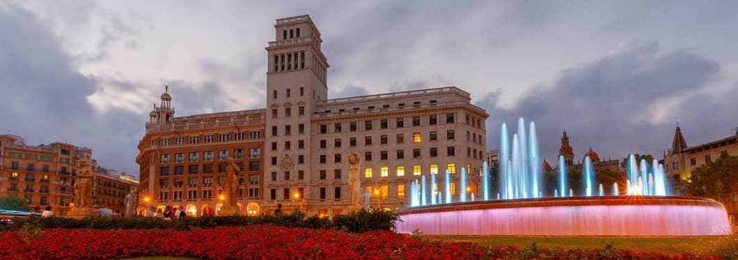 Plaça de Catalunya square in barcelona