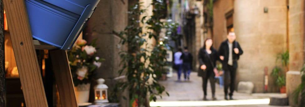 People walking at el born in Barcelona