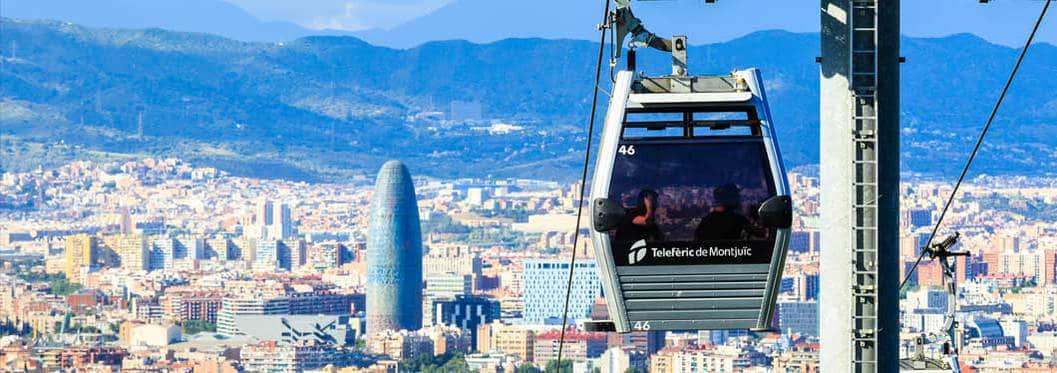 montjuic cable car in barcelona