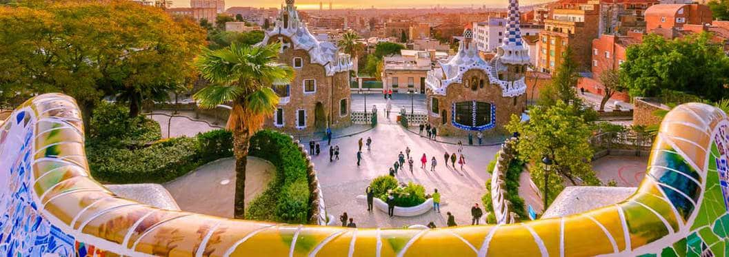 Iconic photo of Park Güell in Barcelona