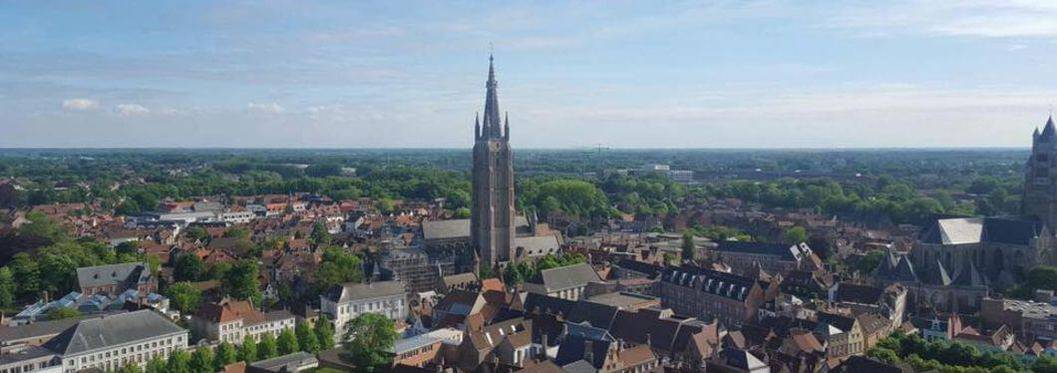 Ariel view or Bruges from the Belfort Tower