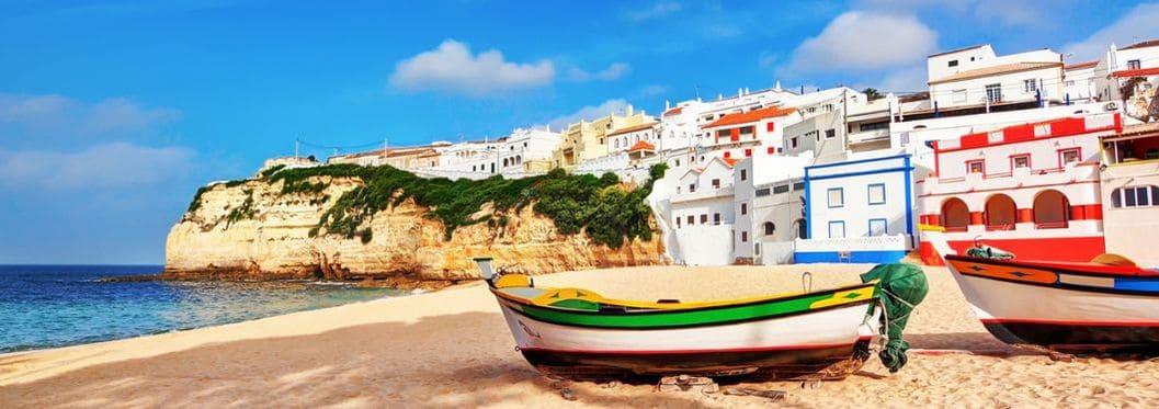 Portuguese beach villa in Carvoeiro classic fishing boats