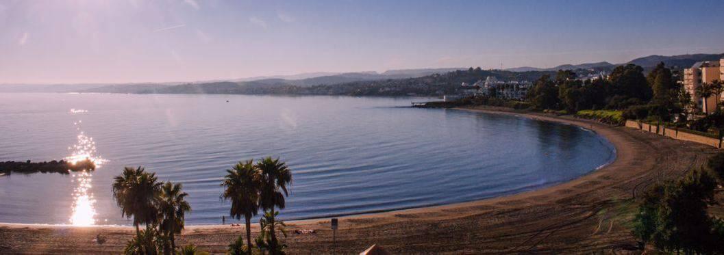 Beach and mediterranean sea. Estepona, Andalusia, Spain