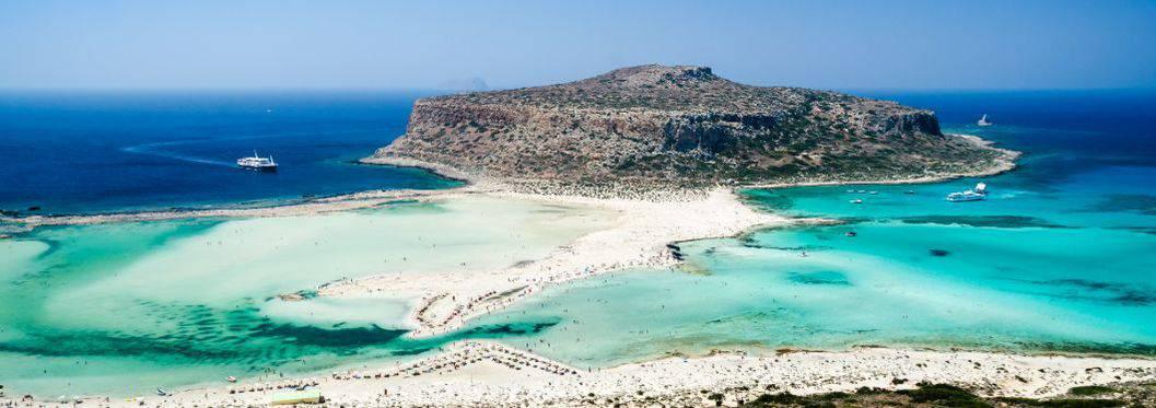 Balos beach in Crete, Greece