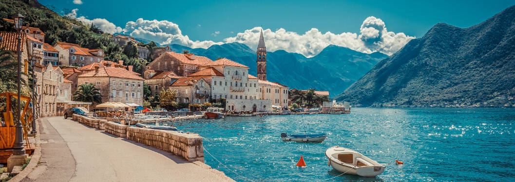 montenegro bay and boat